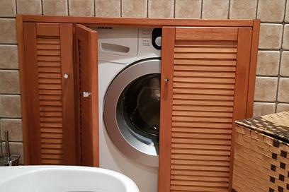 Lavatrice in bagno: come nasconderla?